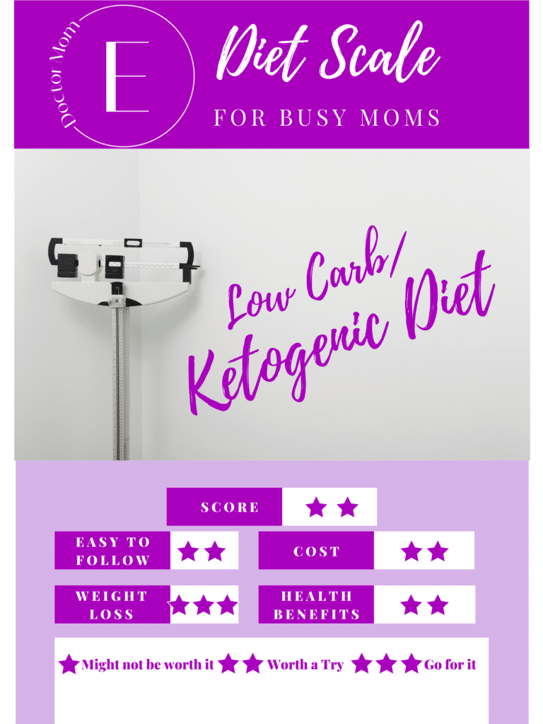 Low carb diet for busy moms